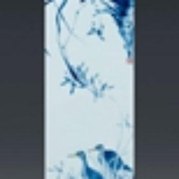杨天宇陶瓷作品2 青花兰花瓷板