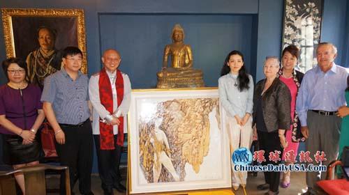 亚太博物馆收藏中国张景辉千万瓷板画