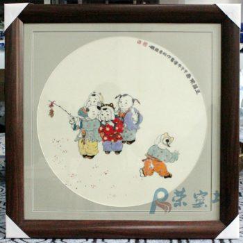 景德镇高级工艺美术师杨大川高温色釉瓷板童趣系列作品欣赏