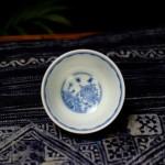 景德镇敬畏堂全手工手绘青花紫金釉茶具茶杯品杯功夫茶杯拼命本
