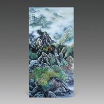 谢良华陶瓷作品新彩山水陶瓷瓷板画44