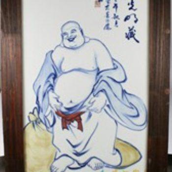 杨大川作品高温颜色釉彩绘弥勒佛布袋罗汉大光明藏 2