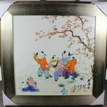 杨大川作品高温颜色釉童趣婴戏图3