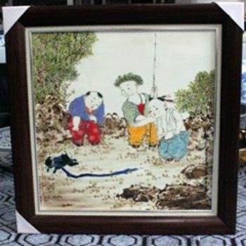 杨大川作品高温颜色釉童趣婴戏图10