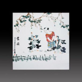 江西省工艺美术师杨大川陶瓷作品高温窑变 家园瓷板画