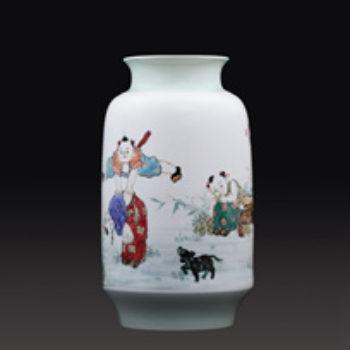 江西省工艺美术师杨大川陶瓷作品高温窑变 忆当年150件瓷瓶