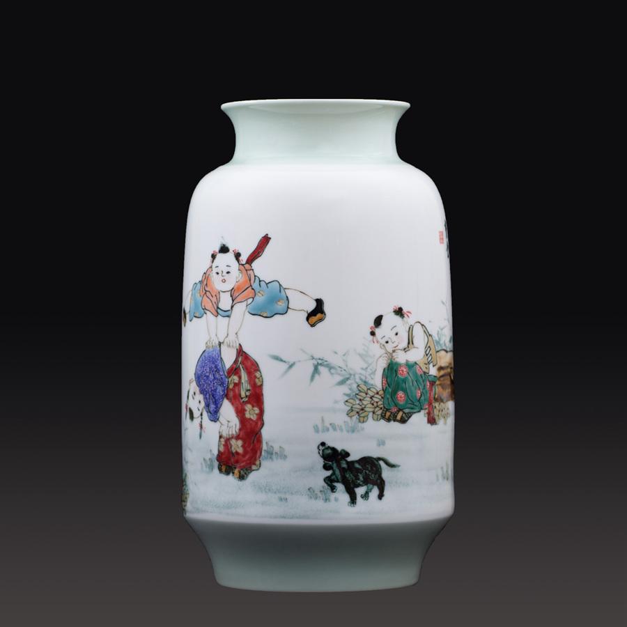 江西省工艺美术师杨大川陶瓷作品高温窑变 忆当年瓷瓶