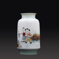 江西省工艺美术师杨大川陶瓷作品窑变 童心童趣150件瓷瓶