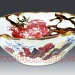 手绘青花釉里红 大碗 江西省高级工艺美术师 杨守用杨荣陶瓷艺术作品