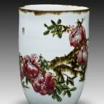 釉里红石榴花瓶 江西省高级工艺美术师 杨守用杨荣陶瓷艺术作品