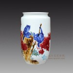 手绘青花釉里石榴猴子嬉戏花瓶 江西省高级工艺美术师 杨守用杨荣陶瓷艺术作品