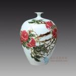 手绘青花釉里红梅瓶花瓶 箭筒江西省高级工艺美术师 杨守用杨荣陶瓷艺术作品