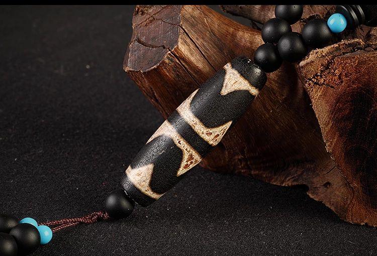 浅谈老天珠的水纹、结晶、石纹线