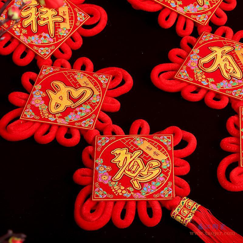 景德镇陶瓷器花瓶摆件中国红苹果现代中式家居酒柜装饰品摆设带盖-550241489534