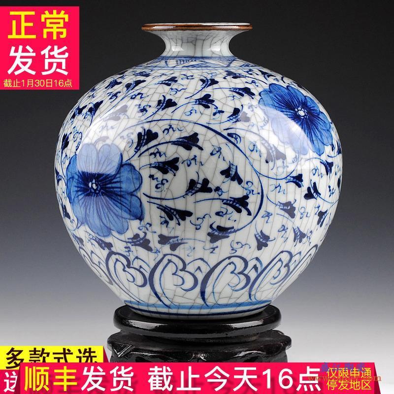 景德镇陶瓷摆件现代时尚创意简约家居装饰客厅插花花瓶干花花器-10473323083