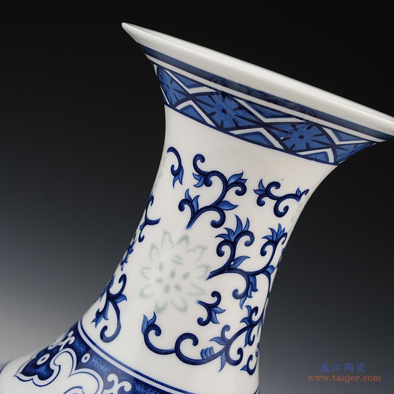 景德镇陶瓷器茶几烟灰缸创意现代中式复古主题餐厅办公室客厅摆件-38362922176
