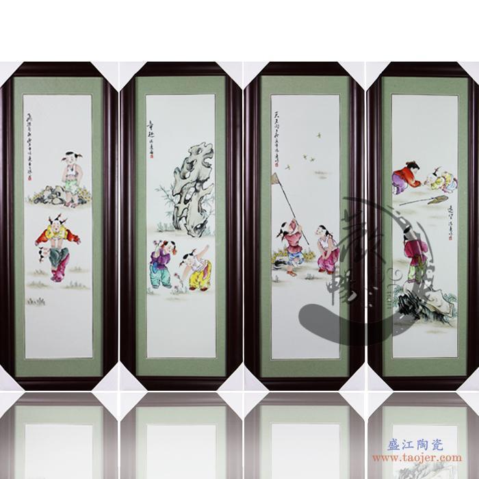 hc-032欢畅景德镇仿古陶瓷马古典家居装饰工艺摆件节日礼品-3743315160