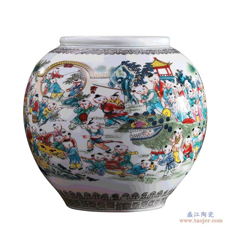 景德镇陶瓷器青花瓷薄胎镂空花瓶插花古典客厅家居装饰品酒柜摆件-38820584385