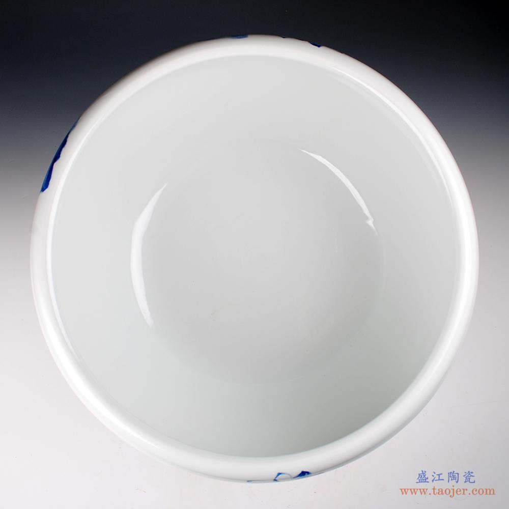 景德镇陶瓷纯白色干花花瓶插花器餐桌现代简约家居装饰新中式摆件-532145078845