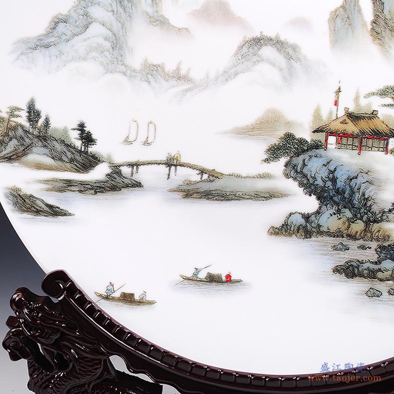 景德镇陶瓷器 中国红纯色苹果摆件 家居装饰工艺品摆设 结婚礼品-532180306332
