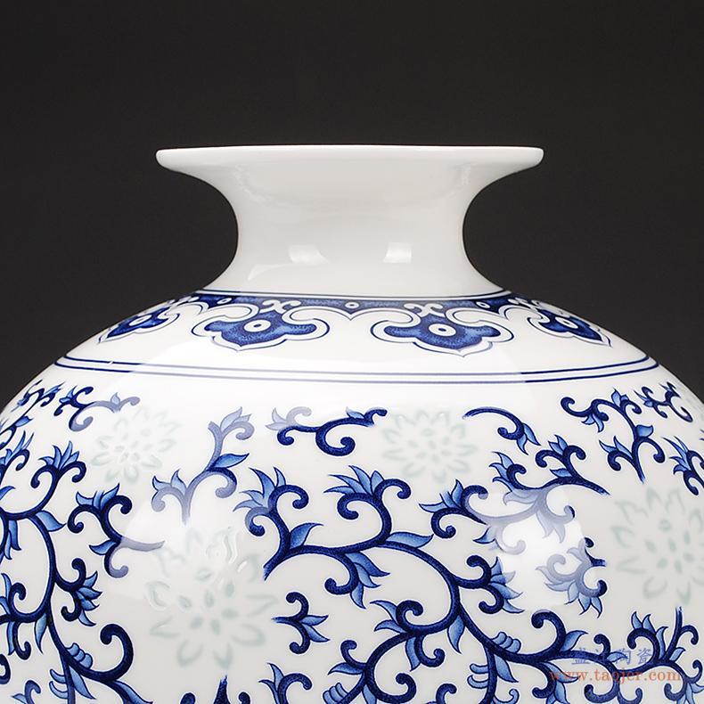 鼎众景德镇陶瓷器青花瓷镂空新中式古典水果盘家用大号创意零食盘-529325107750