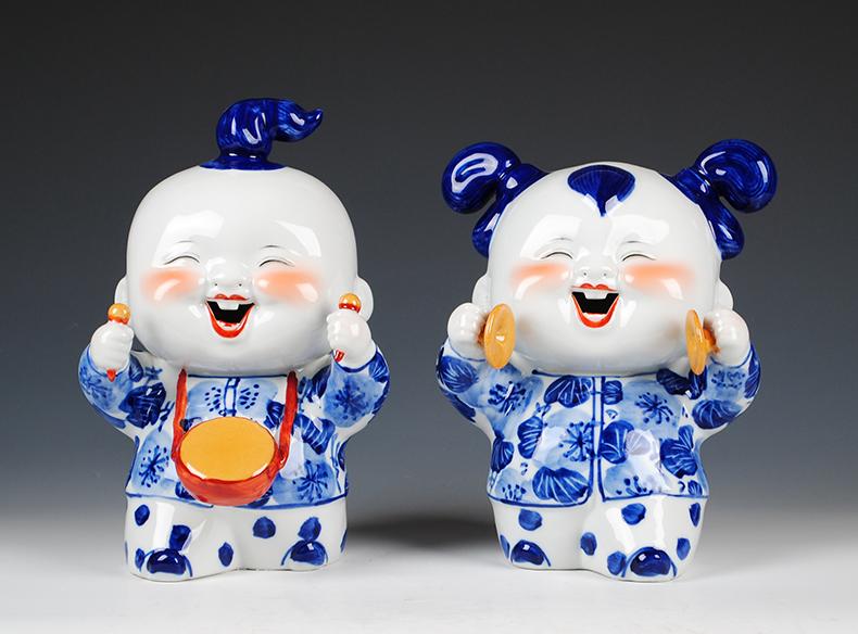 景德镇陶瓷器 仿古钧瓷郎红双耳小花瓶 客厅中式博古架电视柜摆件-523015102202