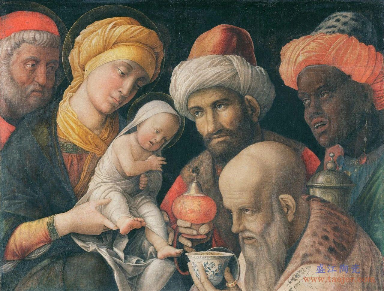 耶稣青花瓷