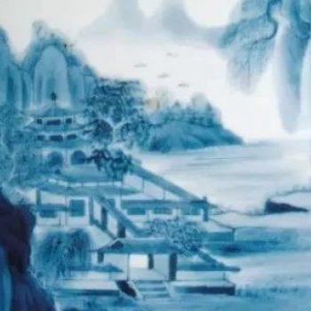 """【艺术长廊】青花瓷上的""""山水画"""""""