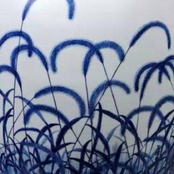釉色渲染,青花瓷