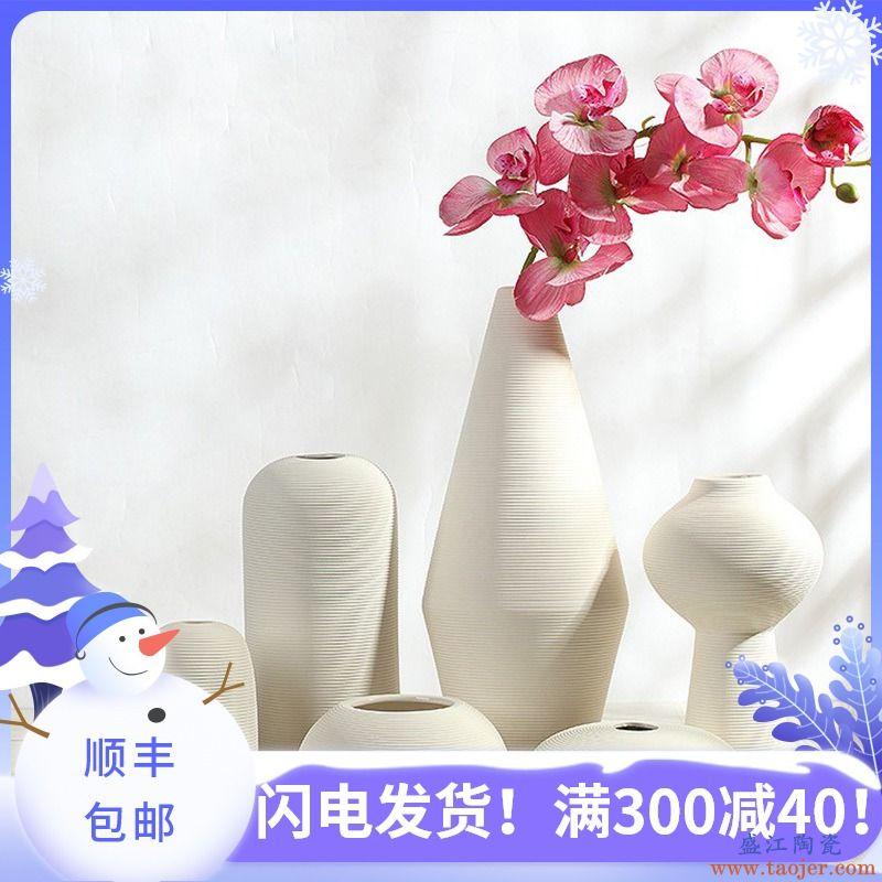 画立方 北欧ins陶瓷花瓶摆件现代简约家居创意客厅干花插花装饰