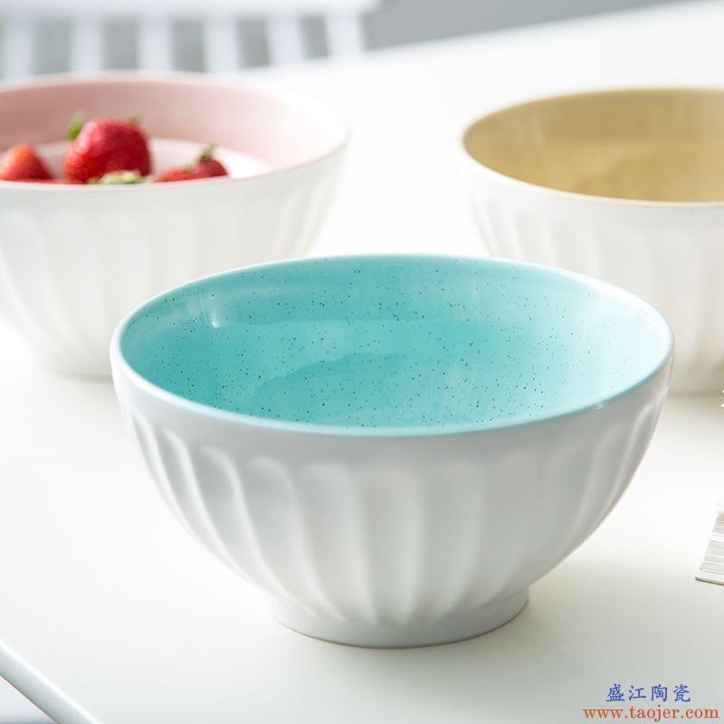 ijarl亿嘉创意陶瓷大碗面碗韩式汤碗日式泡面碗拉面碗单只装菜碗
