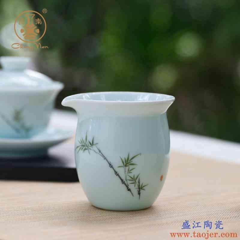 昌南玉瓷公道杯景德镇陶瓷功夫茶具公杯茶海分茶器手绘茶具配件