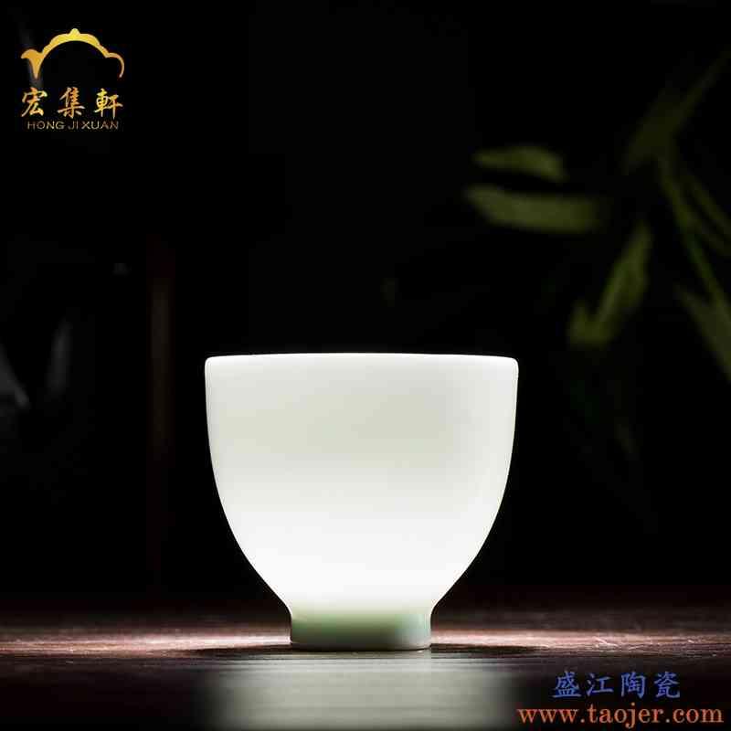 景德镇茶具功夫茶杯陶瓷主人杯小茶杯单杯影青瓷泡茶杯玉瓷茶杯