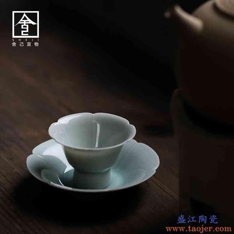 家用小茶杯手绘品茗杯单个日式喝茶杯子手工杯泡茶杯陶瓷工夫