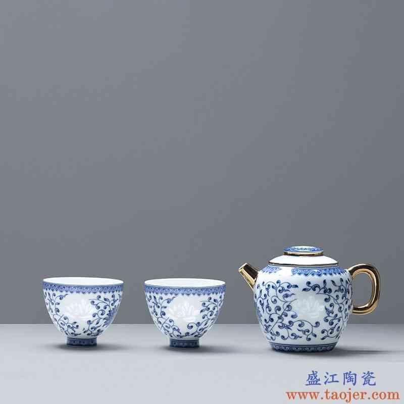 玉柏玲珑白瓷茶杯陶瓷旅行便捷过滤茶杯户外喝茶饮水套装心如莲花