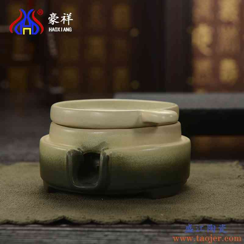 豪祥茶漏茶叶过滤器茶具配件滤茶器仿古陶土过滤滤网茶盘茶海