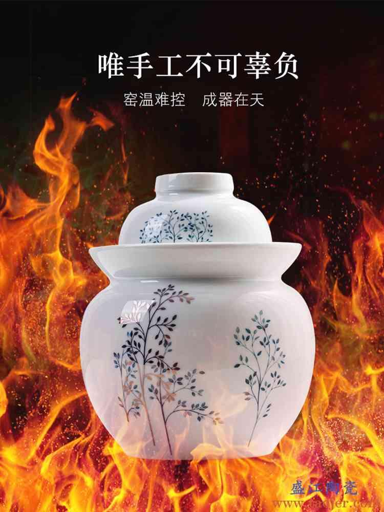 泡菜坛子陶瓷家用四川土陶加厚酸菜咸鸭蛋密封罐小腌菜坛子泡菜罐