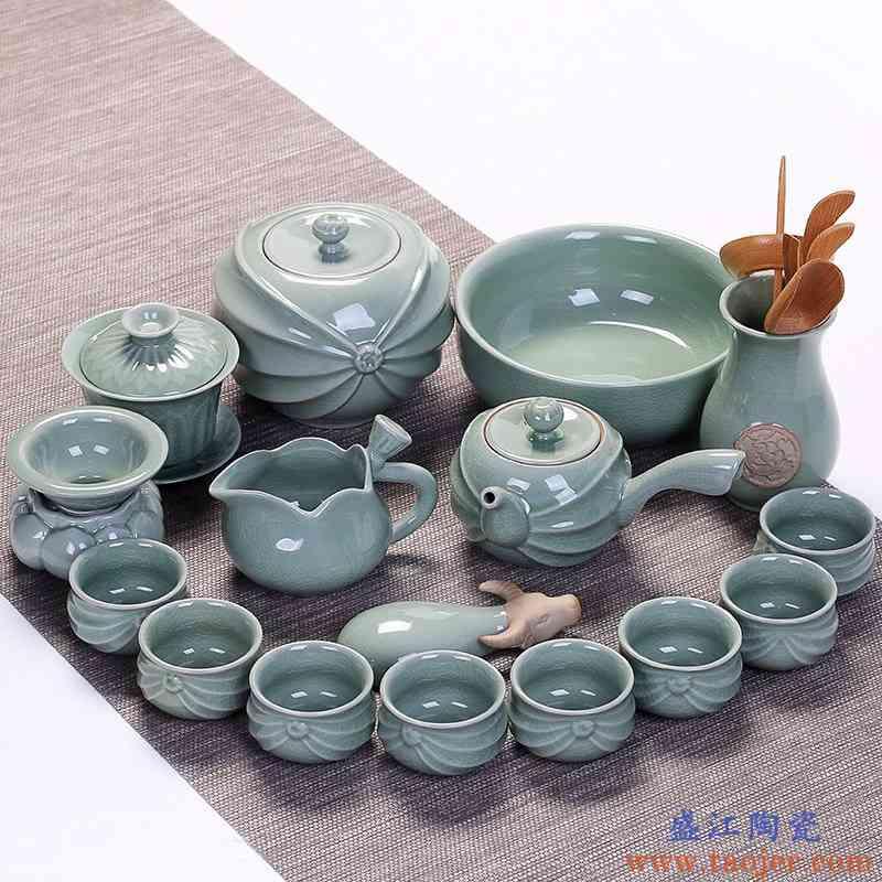 新功夫茶茶杯盖碗茶杯套装冰裂杯功夫茶茶具陶瓷茶杯子茶具壶单壶