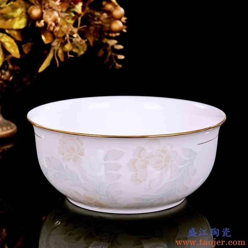 巧慕碗碟套装景德镇陶瓷器30头手工描金骨瓷餐具套装欧式家用碗盘
