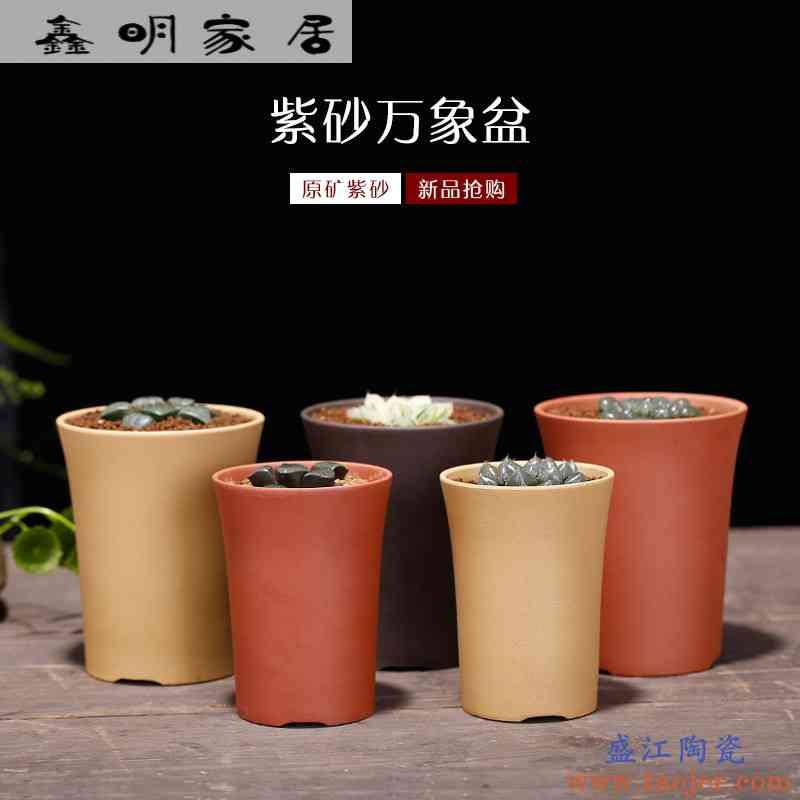 紫砂万象盆宜兴原矿大号玉露花盆十二卷多肉植物组合盆栽包邮