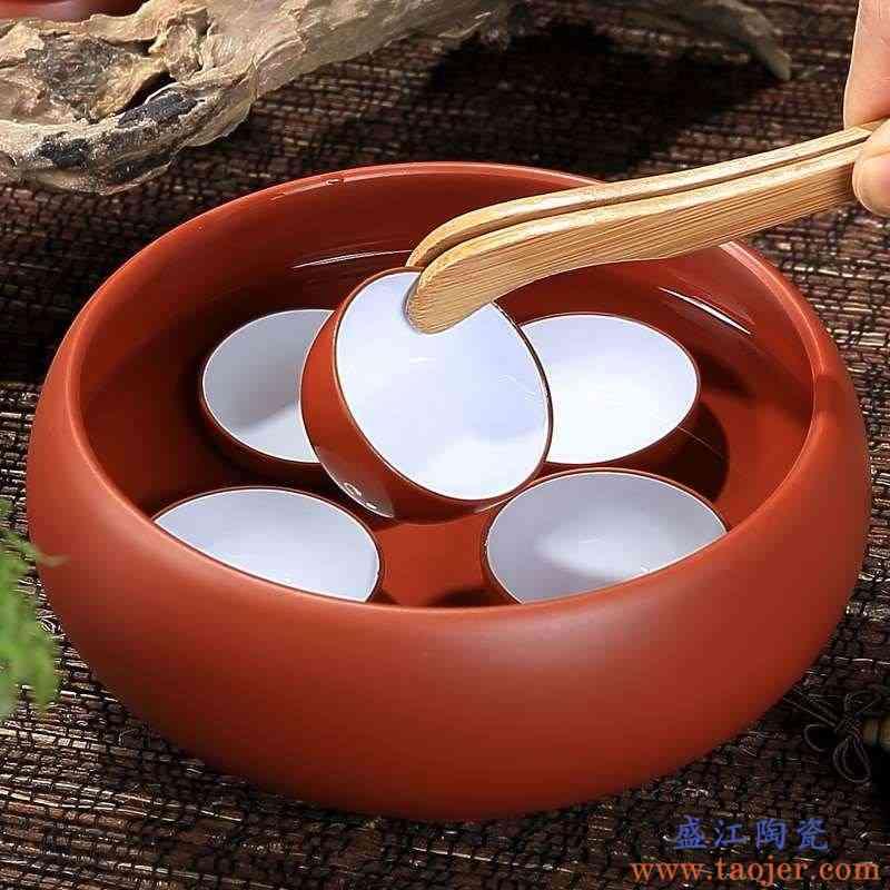 废茶水缸渣斗茶洗大号陶瓷特大水洗茶洗水盂茶渣缸茶钵复古水钵型