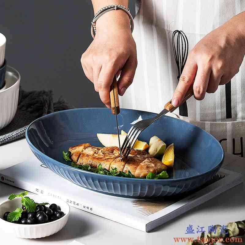 北欧餐具家用简约创意个性陶瓷碗汤碗面碗沙拉碗单个大碗