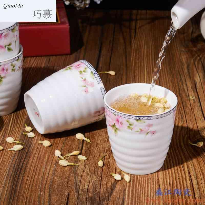 巧慕陶瓷冷水壶套装 家用凉水杯套装 耐热欧式水杯水具套装