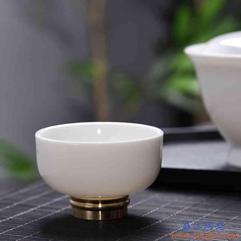 玉瓷主人品茗杯德化白瓷个人单杯陶瓷功夫茶杯茶具白杯子茶盏小杯
