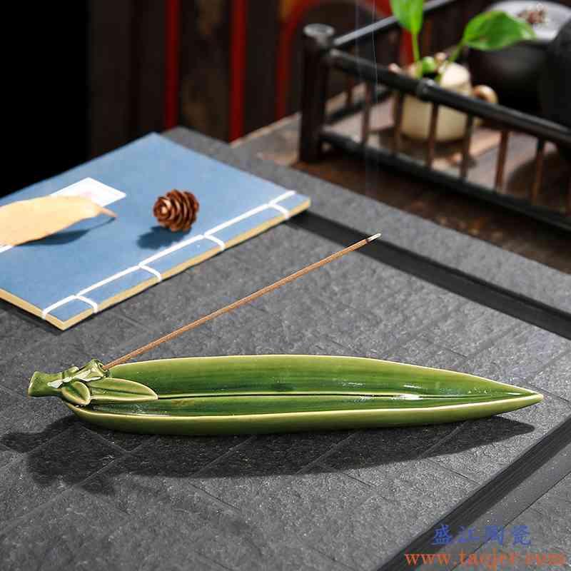 新款创意陶瓷线香炉 家用室内茶桌禅意卧香炉沉香檀香熏香炉香插