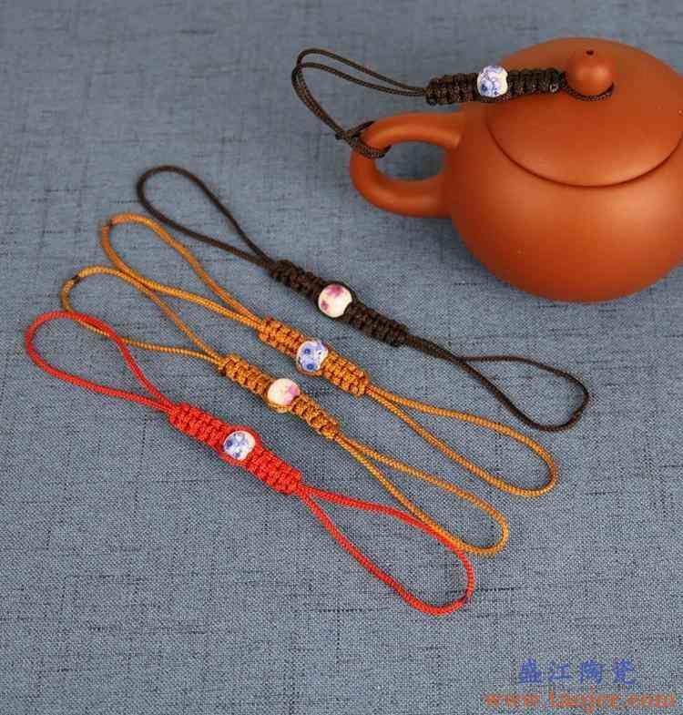 养壶绳茶壶绳手工编织壶盖绳紫砂壶盖防摔绳10个装茶道零配。