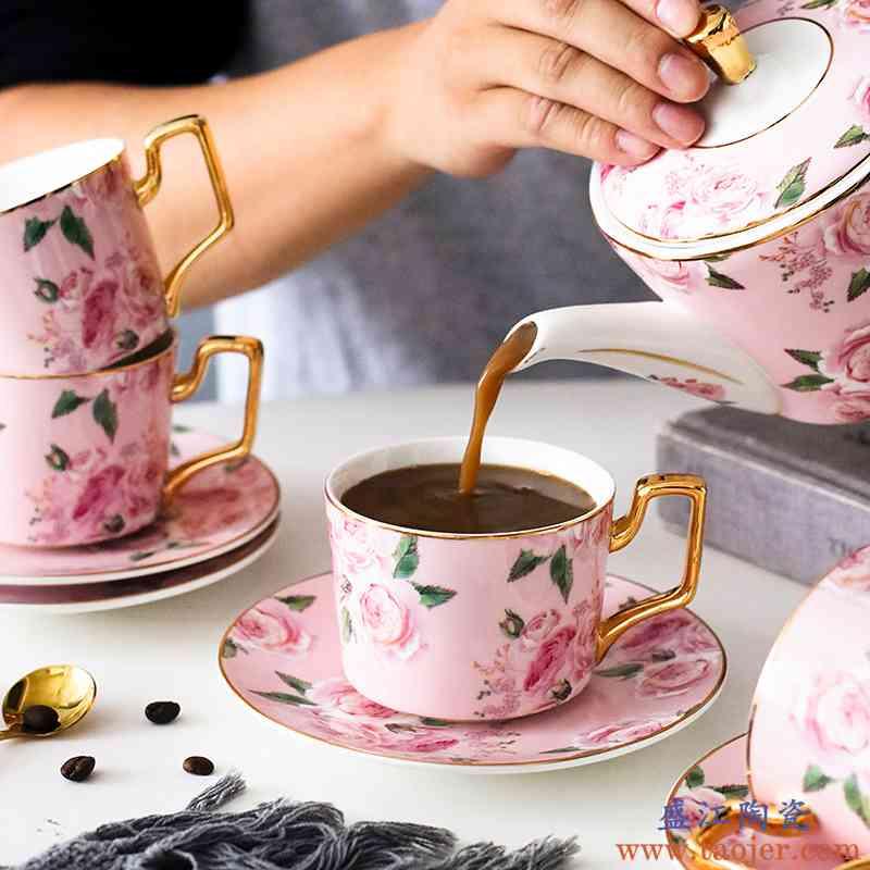 ins英式花茶下午茶陶瓷竞技宝app苹果官方下载套装创意家用欧式整套咖啡具咖啡杯碟