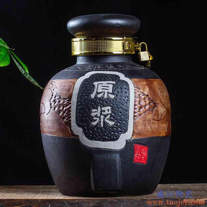 景德镇陶瓷酒坛酒缸酒坛子酒罐仿古酒坛泡酒瓶带龙头20斤30斤50斤