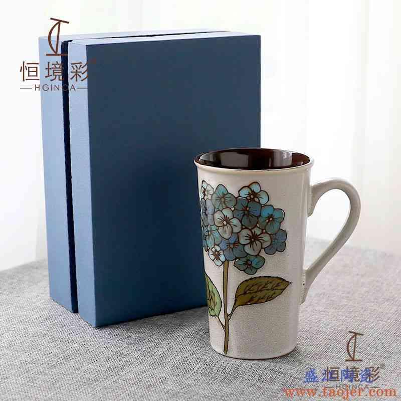 大容量马克杯带盖勺陶瓷情侣杯一对咖啡杯创意早餐杯家用水杯定制