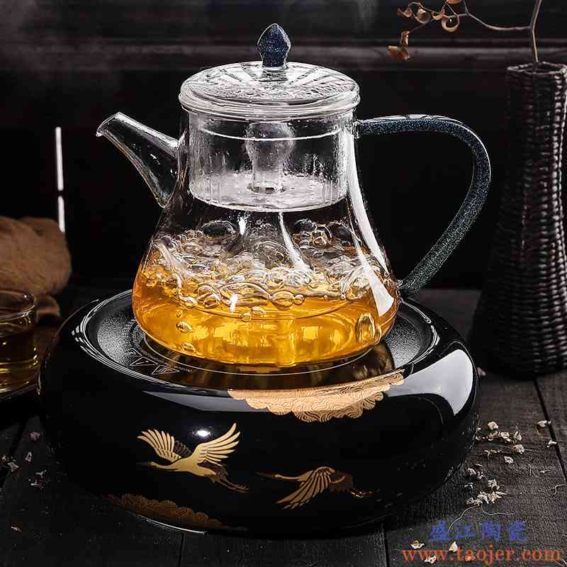 世壶玻璃蒸茶器普洱煮茶器套装彩把玻璃茶壶竞技宝app苹果官方下载功夫泡茶杯电陶炉